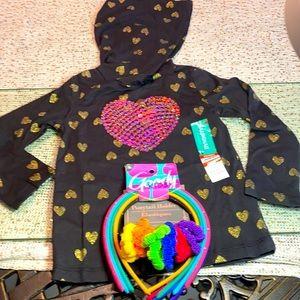 Garanimals 2 T - Toddler Black Love Shirt. Bonus